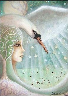 Swan goddess