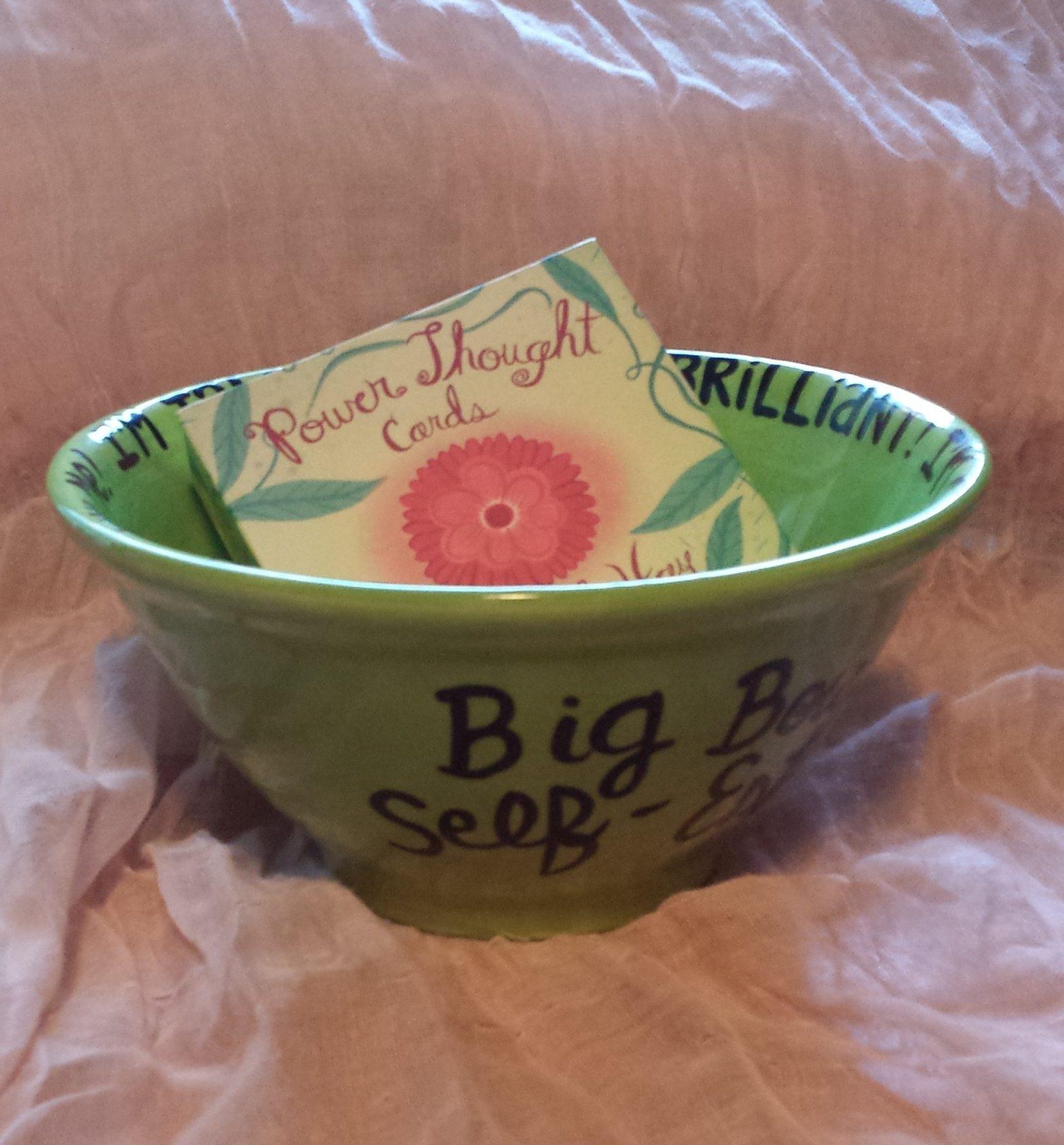 Big bowl of self-esteem
